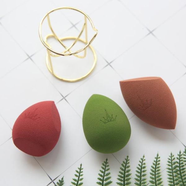 美妝蛋化妝棉葫蘆粉撲底妝打底干濕組合裝-炫科技