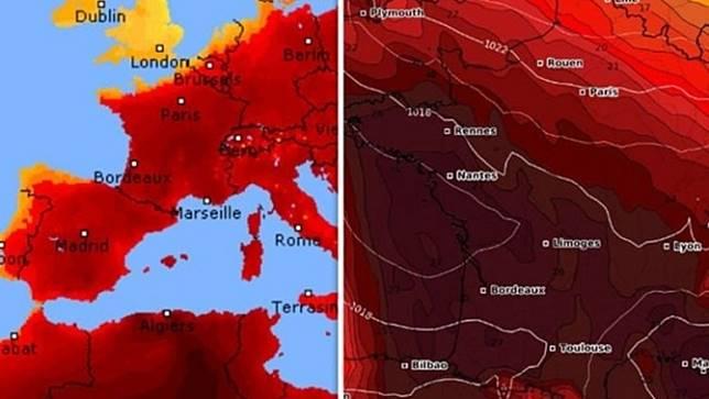 หลายประเทศในยุโรปทำสถิติร้อนจัดในเดือนมิถุนายน