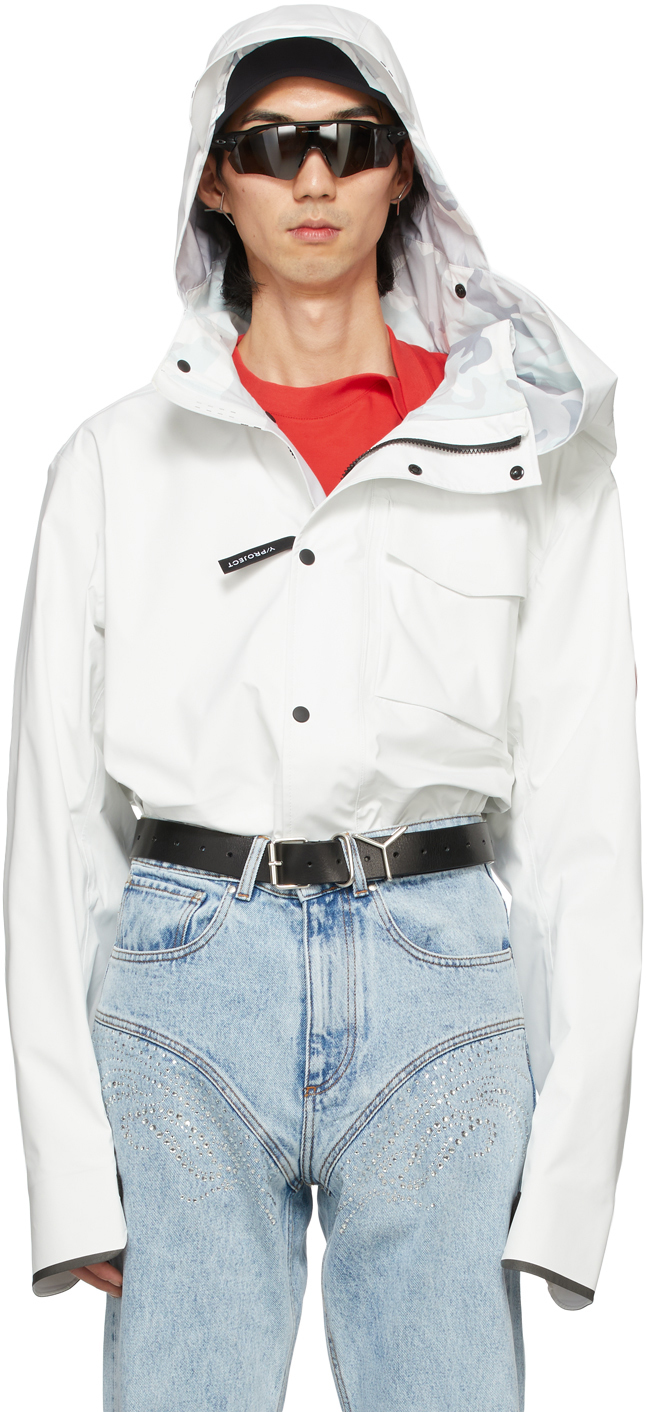 Y/Project SSENSE 独家发售白色 Canada Goose 联名 Nanaimo 夹克