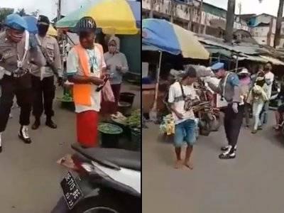 Viral Polisi Pukul Bokong Warga Pakai Rotan karena Tak Pakai Masker