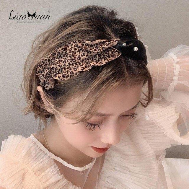 髮箍 頭箍 韓國豹紋寬邊髮卡髮箍女簡約少女撞色頭箍個性網紅甜美髮帶頭飾品