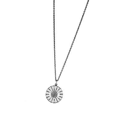 丹麥國寶品牌極具收藏性材質: 纯银電鍍銠,白瓷琺瑯, 0.05 克拉鑽石鍊長:40 cm型號:10010534