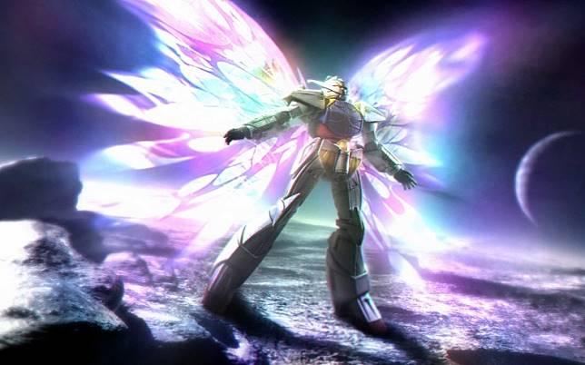 ∀高達的「月光蝶」足以毀滅人類文明,絕對是高達史上最強武器。(互聯網)
