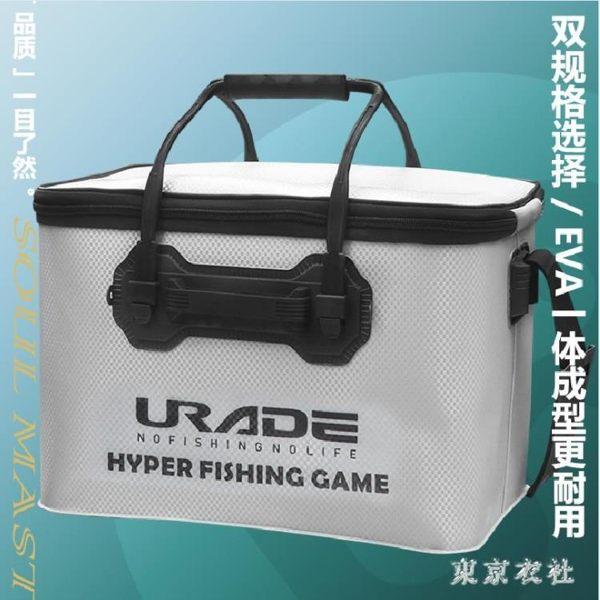 裝魚桶活魚桶加厚多功能魚護桶eva折疊漁具一體成型釣魚桶