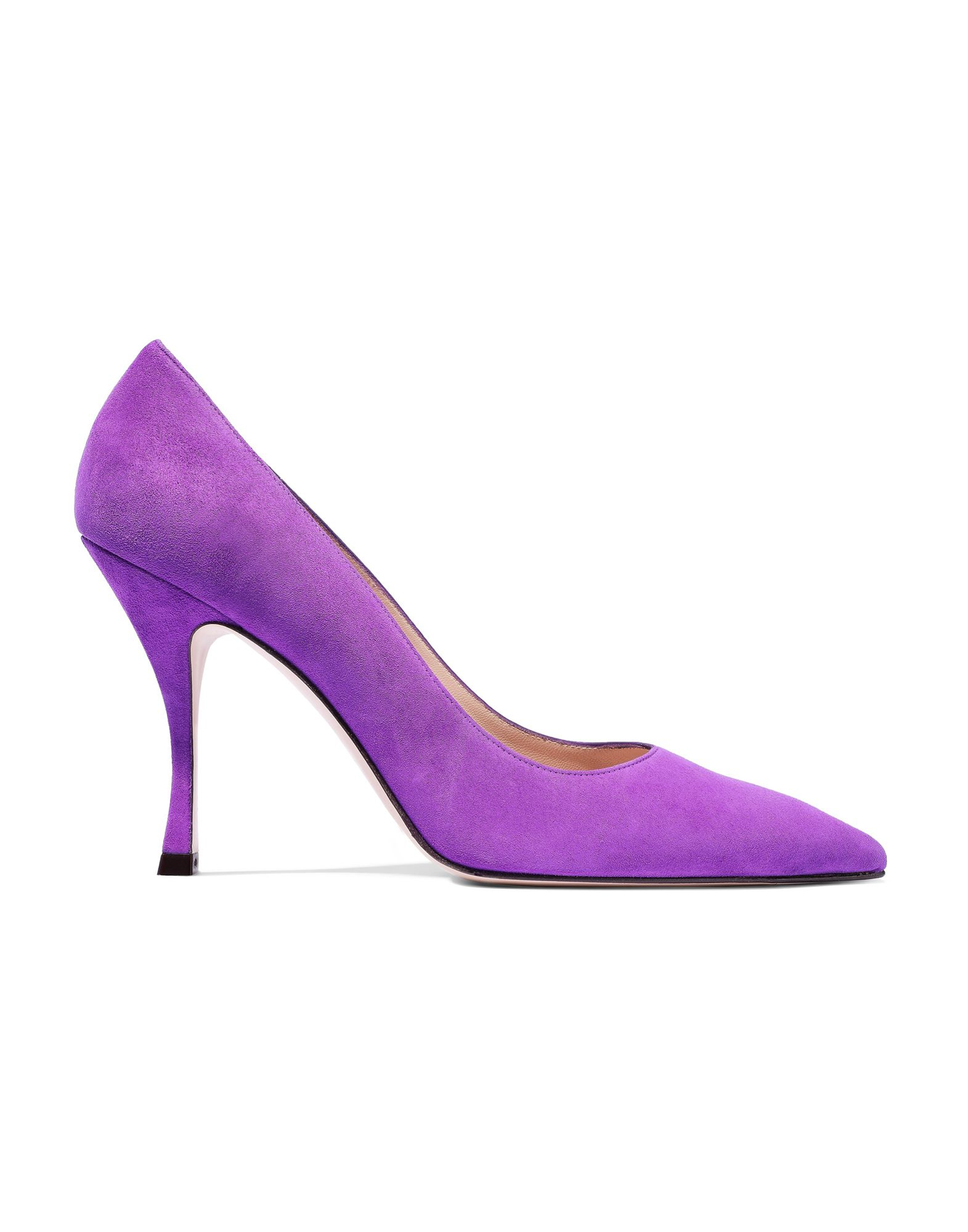 leather, suede effect, no appliqués, solid color, narrow toeline, spool heel, covered heel, leather