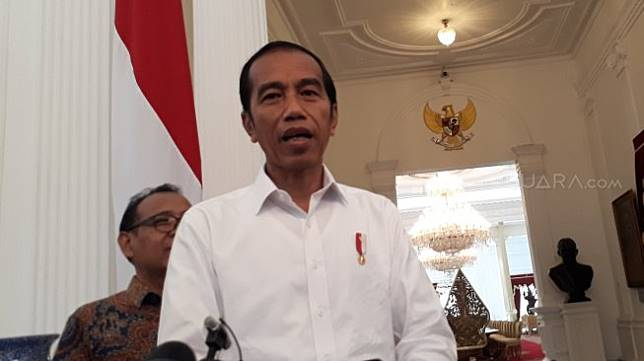 Capres nomor urut 01 Joko Widodo (Jokowi). (Suara.com/Umay Saleh)