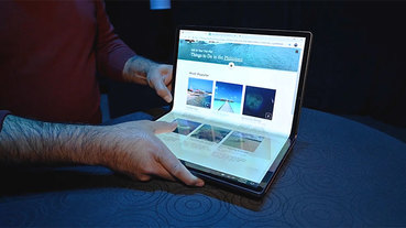 Intel 演示 Horseshoe Bend 概念機,筆電也會有折疊螢幕的未來