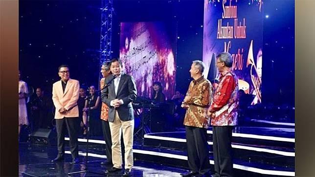 caption: Helmy Yahya menyampaikan kesannya saat membawakan acara Lifetime Achievement dari Ikatan Akuntan Indonesia Tahun 2019 yang ditayangkan langsung di TVRI, Sabtu, 9 Desember 2019 melalui postingan di Instagramnya. Instagram/@Helmyyahya