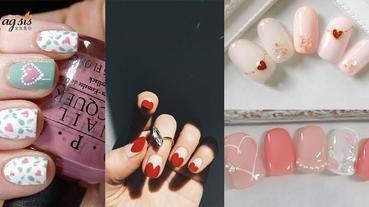 指甲也要表達愛意!15款情人節心型指甲 ,一起甜蜜過情人節吧~
