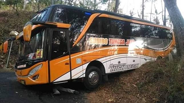 Bus tersesat  di hutan
