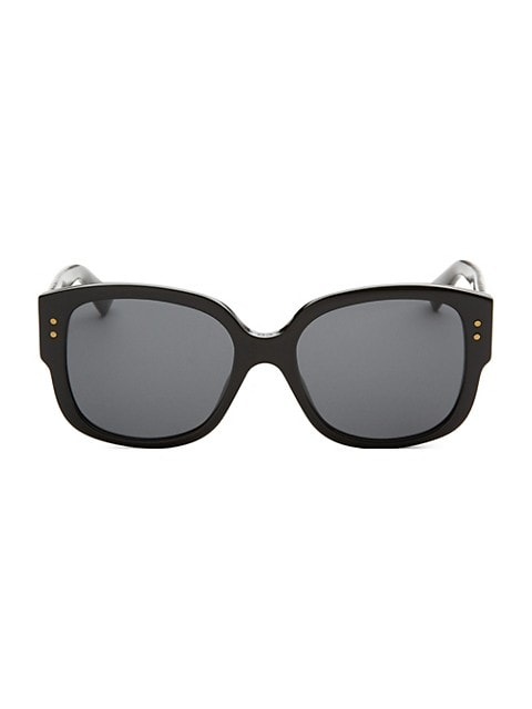 On-trend square sunglasses with studs; 54mm lens width; 18mm bridge width; 140mm temple length; Tint