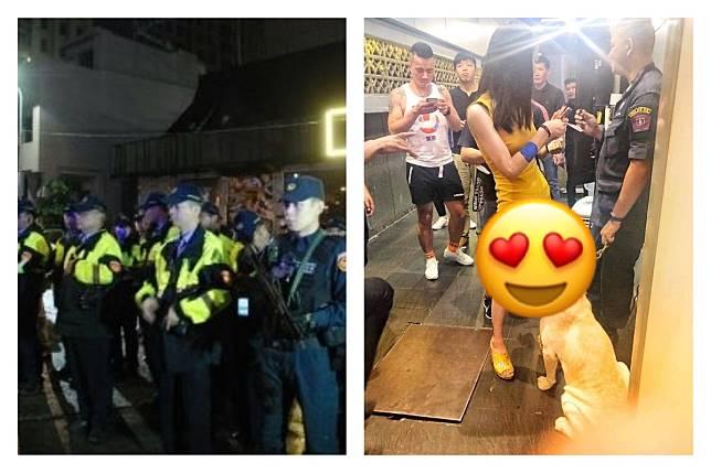 ▲警方為了防止毒品危害社會大眾,經常都會帶著緝毒犬出入一些「深色場所」,藉此發現毒品的藏匿之處。(圖/翻攝自警方和《 Thailand Police Story 》)