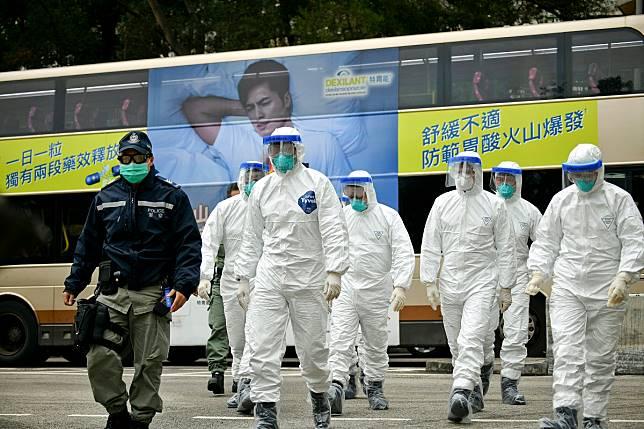 警方獲發防疫物資被質疑。資料圖片