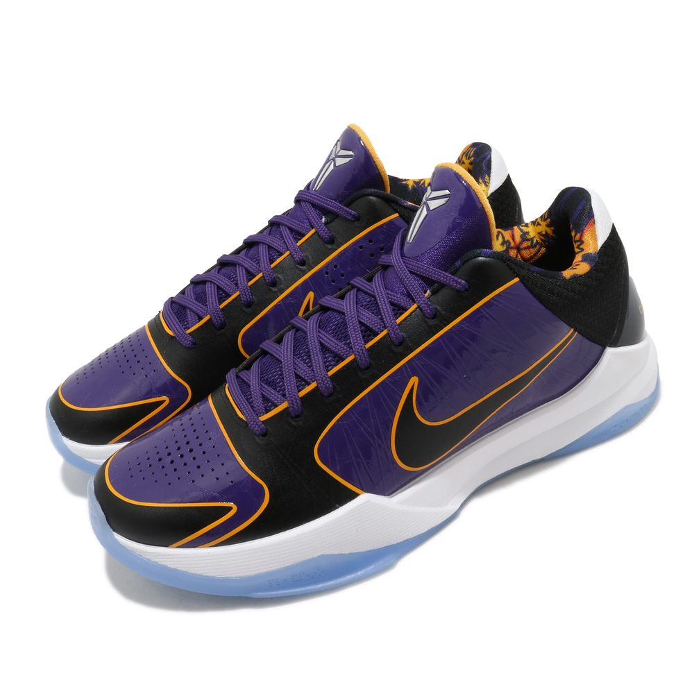專業籃球鞋品牌:NIKE型號:CD4991-500品名:Kobe V Protro配色:紫色,黑色