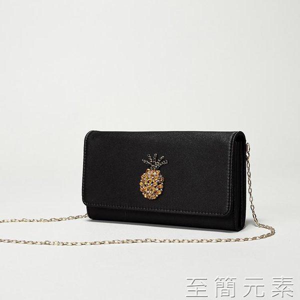 手拿包ZARA女包新款信封包時尚菠蘿小包單肩斜挎錬條包手拿信封包潮 至簡元素