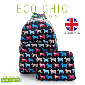 英國ECO CHIC時尚可折疊後背包-雪納黑