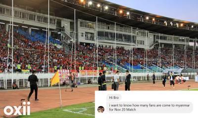 Liên đoàn bóng đá Myanmar muốn nắm số lượng CĐV Việt Nam
