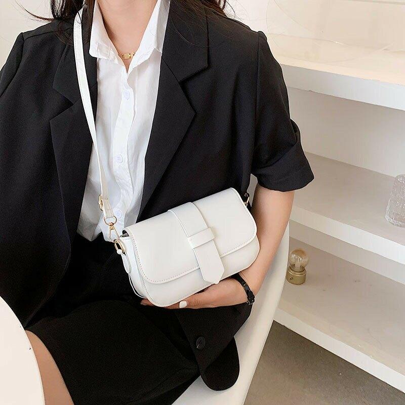 復古包包女2021春季新款簡約時尚個性質感潮流洋氣韓版單肩小方包