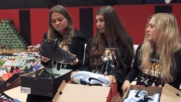 美國加州球鞋控姐妹花 公布超嚇人 6000 雙球鞋收藏!