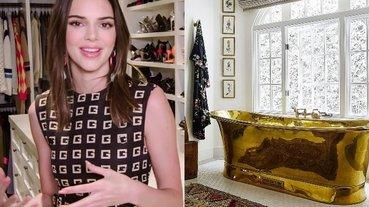 卡戴珊家族最窮!Kendall Jenner 曝光單身女郎「溫馨小豪宅」,時尚金浴缸大受好評!