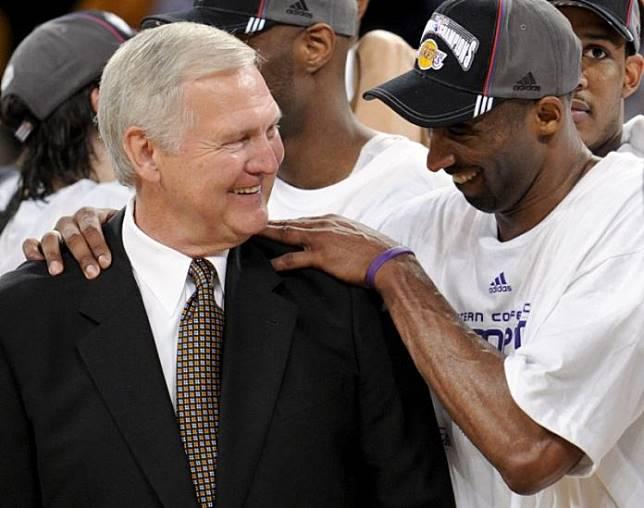Kobe Bryant與Jerry West,達志影像