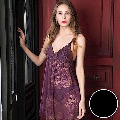 NO.NNS04481-BL透膚蕾絲睡衣裙裝 蕾絲薄紗性感小心機手感柔軟,親膚性好
