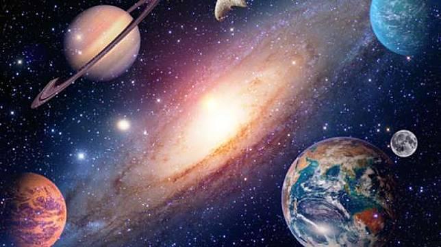 Ilustrasi Bumi dan planet-planet di sekitarnya, termasuk Planet Mars (Shutterstock).
