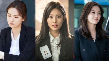 《Vagabond》秀智黑白套裝也美翻天!8位韓劇女主黑白套裝造型,連「娃娃臉」張娜拉都變酷帥