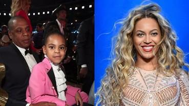 女兒總是像爸爸?碧昂絲女兒葛萊美耍酷歪嘴 網友驚:果然是 Jay Z 親生的!