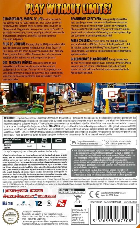 【全新未拆】任天堂 SWITCH NS 熱血街球場2 NBA 2K PLAYGROUND 2 中文版 街頭 籃球 鬥牛