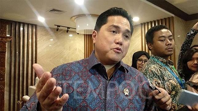 Menteri BUMN Erick Thohir usai menghadiri pertemuan bersama pada duta besar di Kantor Kementerian Luar Negeri, Jakarta Pusat, Kamis, 9 Januari 2020. Tempo/Fajar Pebrianto