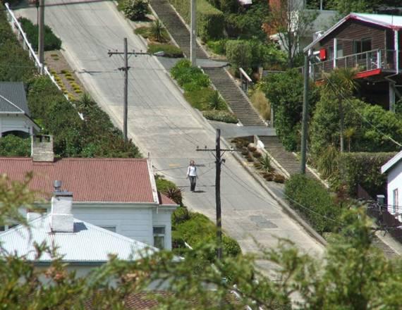 Baldwin Street ini adalah jalanan paling curam di dunia (dok. James Dignan)