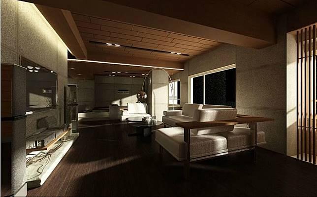 日式風格的客廳
