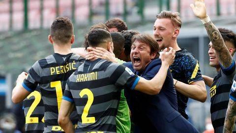 Inter Milan resmi juara Liga Italia. (REUTERS/ALESSANDRO GAROFALO)