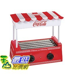 [106 美國直購] Nostalgia HDR565COKE 復古懷舊 可口可樂熱狗機 麵包機 Coca-Cola Hot Dog Roller with Bun WarmerPS.圖片僅供參考,商品以實物為准!Cooks up to 8 regular-size or 4 foot-long hot dogs at a timeContinuously rotating stainless steel rollers cook hot dogsBun warmer in canopy holds up to 6 buns at a timeAdjustable heat settingsConvenient counter top unitProduct descriptionColor:RedThe Nostalgia HDR565COKE Coca-Cola Hot Dog Roller with Bun Warmer cooks eight regular-sized or four foot-long hot dogs at a time. The stainless steel rollers continuously rotate to evenly cook hot dogs, while the adjustable heat settings makes cooking hot dogs simple and quick. The stylish canopy doubles as a bun warmer, holding up to 6 buns at a time. Live on the Coke side of life!Product informationColor:RedProduct Dimensions:14.4 x 7.8 x 14 inchesItem Weight:6.2 poundsShipping Weight:6.2 poundsManufacturer:EMG East, Inc. ASIN:B0098FYC1GOrigin:ChinaItem model number:HDR565COKE