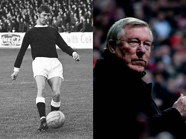 Sir Alex Ferguson saat menjadi pemain dan pelatih.
