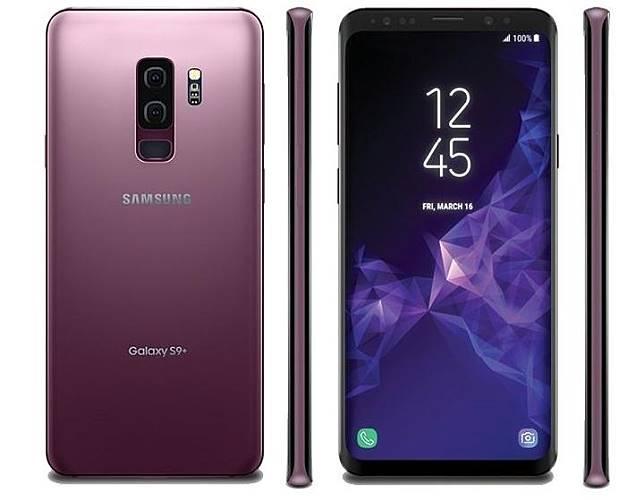 Samsung Galaxy S9 Plus dalam warna ungu. Kredit: GSM Arena