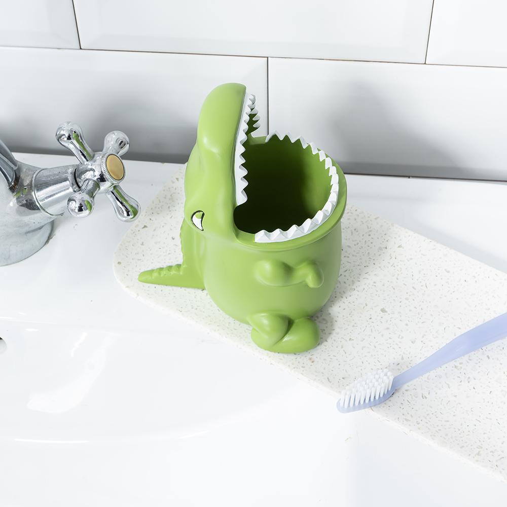 大嘴巴鱷魚牙刷架