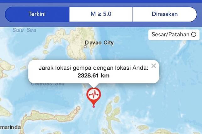 Gempa M 7,4 di perairan Maluku Utara, berpotensi tsunami