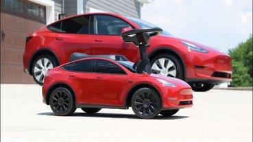 特斯拉官方授權 Tesla Model Y 兒童滑步車推出