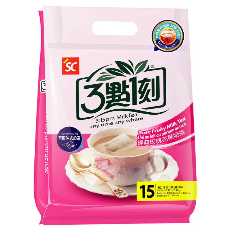 【3點1刻】經典玫瑰花果奶茶 (15入/袋)