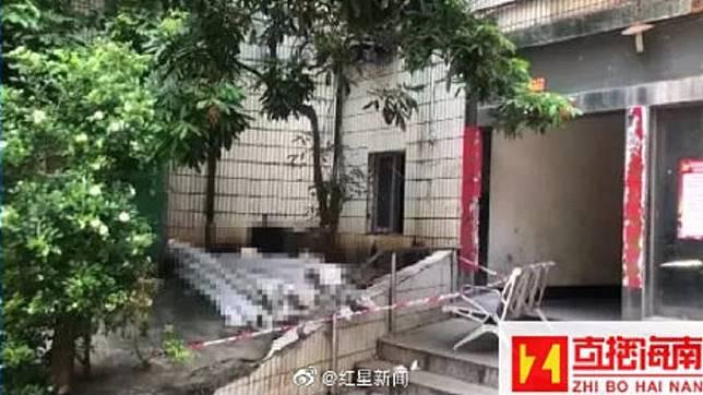 海口市日前發生一起家庭悲劇,公公把懷孕的媳婦打死後再從27樓墜下亡。(圖/翻攝自微博)
