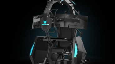 Acer Predator Thronos Air 電競座艙變輕了!內裝三台顯示器、內建按摩功能