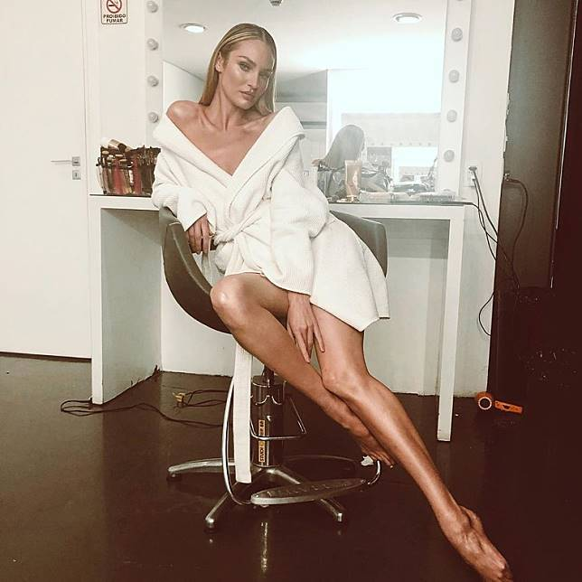 Candice是Victoria's Secret專屬模特兒。
