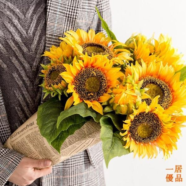 假花 仿真花束 向日葵 假花 干花 太陽花 花藝插花