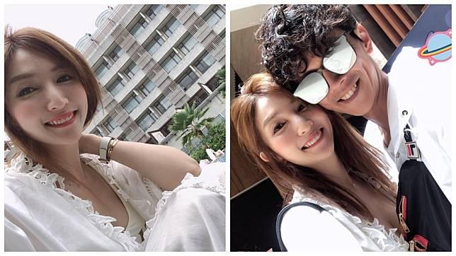 阿翔與老婆Grace。圖/翻攝Grace臉書