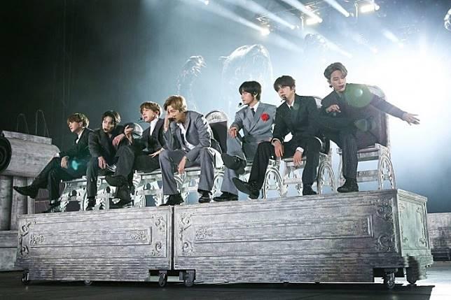 BTS performs at Seoul Olympic Stadium on Oct. 29, 2019.