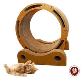 新竹【超人3C】免運 貓之風火輪 Box Meow 瓦楞貓抓板-風火輪 (CS035) 一卡車的貓咪也能一起同樂