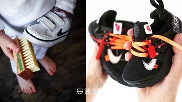 各款潮鞋的童裝版他都有!潮爸親手製作 OFF-WHITE 聯名系列!