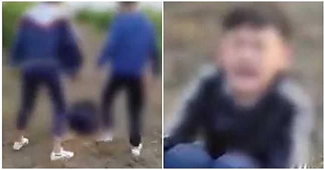 13歲少年被霸凌!撂人把「校園小流氓」打到哭 他蹲地求饒:別打了